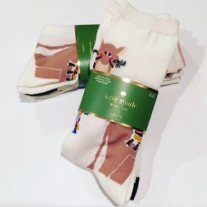 NWTs Kate Spade Camel Socks 3 Pack